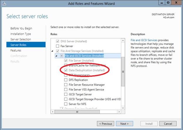 Deduplication in Windows Server 2012