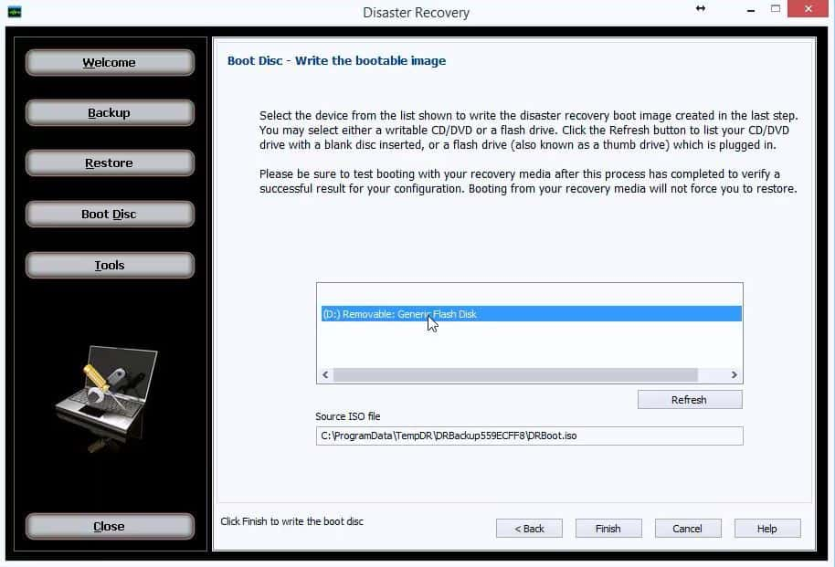 DR-Write-Bootable-Image-Step 5