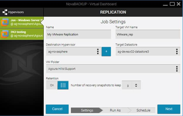 Replicate VMware Virtual Machine