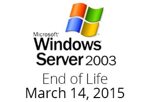 Windows Server 2003 End of Life.