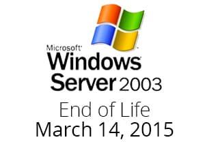 Windows Server 2003 End of Life.