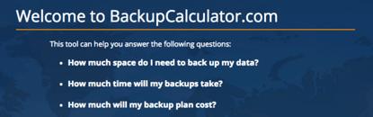 Backup Calculator