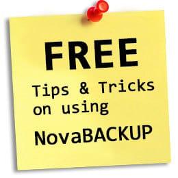 NovaBACKUP tips & tricks