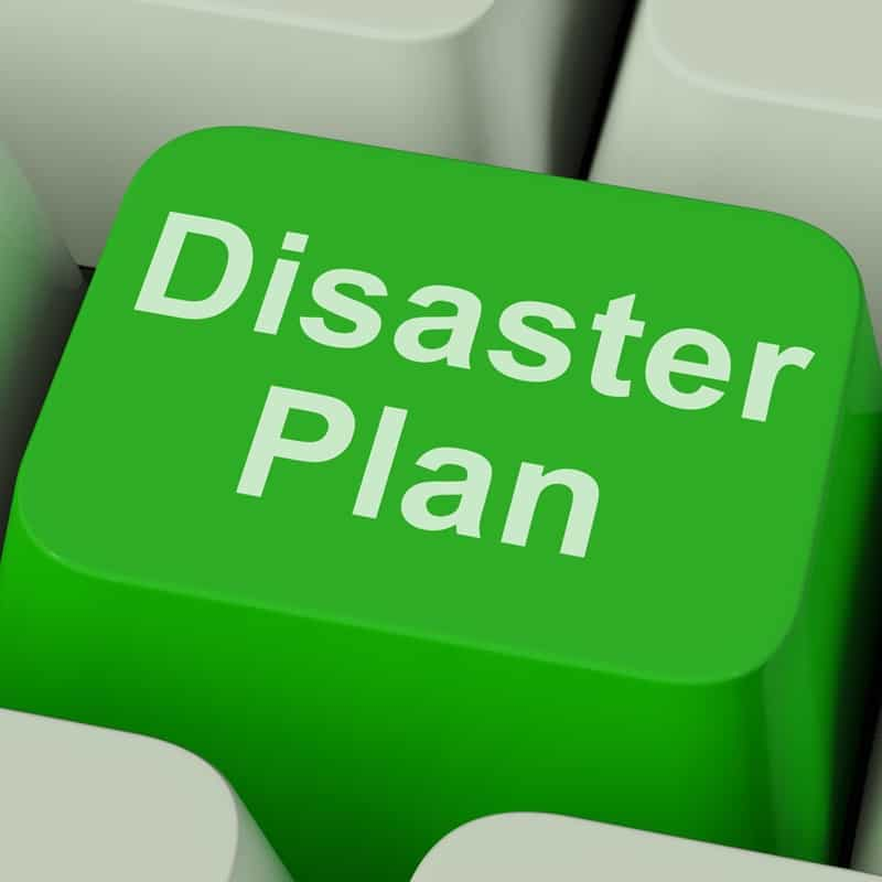 Organizations must create a disaster plan.
